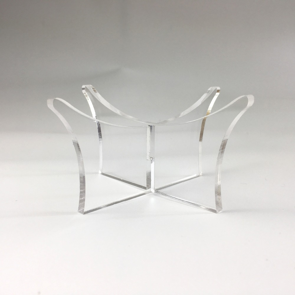 1 Piece Transparent Acrylic Ball Stand Display Holder Rack Support Base For Soccer Volleyball Basketball Football Rugby Ball