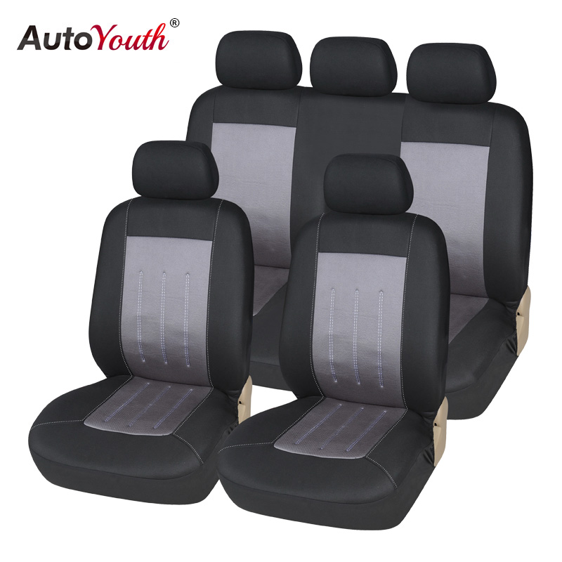 AUTOYOUTH Car Seat Covers Full Set Gray Universal Car Accessories Covers Car Seat Protector For peugeot 307 golf 4 mercedes autoyouth automobiles seat covers universal front and rear full set car seat cover vehicle seat protector interior accessories