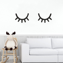 Sleepy Eyes Decal Kids Room Wall Art Mural Sleep Vinyl Stickers Removable Eyelash Decals Nursery Decor AY1227
