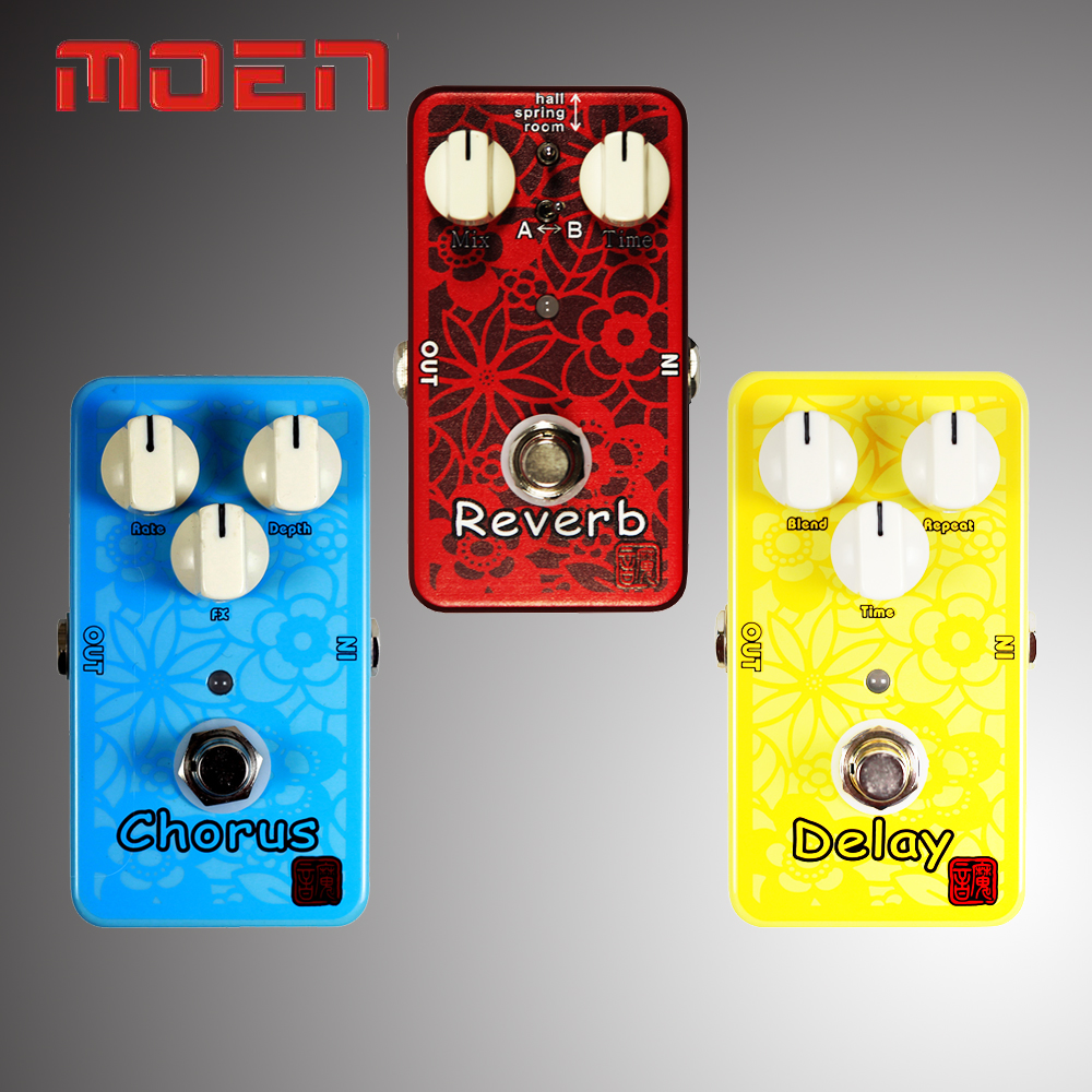 Moen Acoustic Guitar Dedicated Effects Pedal Delay/Chorus/Reverb Multi Voice Chorus Video Recording/Power Supply mooer ensemble queen bass chorus effects pedal