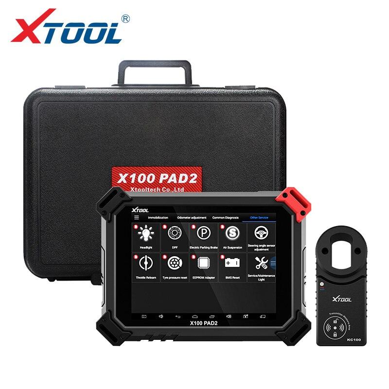 X100 OBD2 PAD2 Pro Profissional Ferramenta de Diagnóstico Do Carro com Imobilizador programador chave Para VW 4th 5th e ajuste Do Odómetro