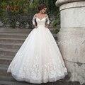 Роскошные Аппликации V-образным Вырезом Бальное платье Свадебные Платья 2016 Свадебные Платья Невесты Свадебное Платье Свадебное