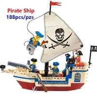 Piratas do caribe tijolos bounty navio pirata blocos de construção brinquedos presentes natal compatível com lego