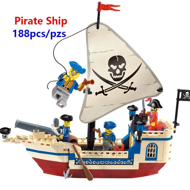 Recompensa Navio Pirata piratas Do Caribe Tijolos Blocos de Construção de Brinquedos Presentes de Natal Brinquedos Compatível Com Lego
