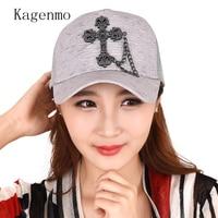 Kagenmo Cross Mujeres Visera gorra de Béisbol Del Hip Hop Sombrero de Moda Al Aire Libre de Malla Transpirable Fresco