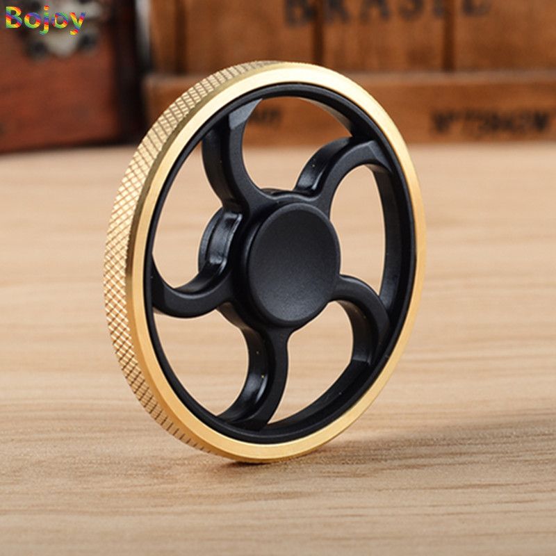 finger Spiner Fidget spinnerToys Pattern Hand Spinner copper Metal Fidget Spinner and ADHD Adults Children Educational gyro Toys