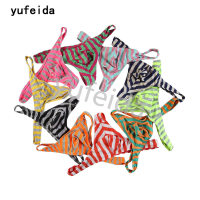 YUFEIDA Wholesale 10pcs/lot Men Underwear Sexy Striped G-Strings Thongs Exotic Jockstrap Gay Hipster Cueca Tanga Hombre Bikini