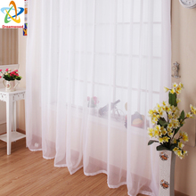 Dreamwood Kitchen Tulle Curtains Translucidus Modern Home Window Decoration White Sheer Voile Curtains for Living Room