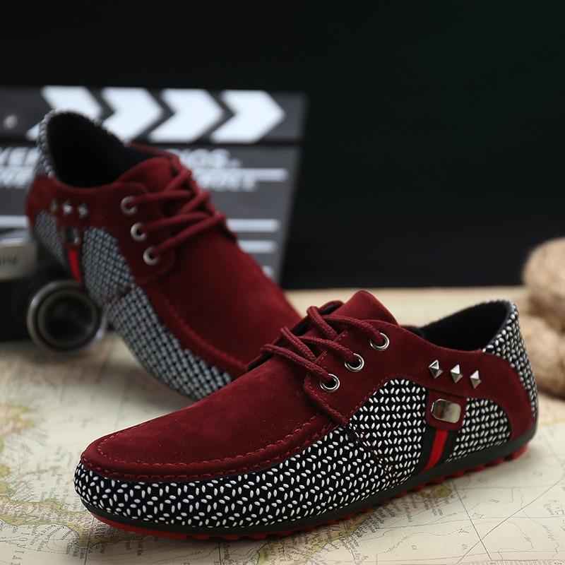 ใหม่แฟชั่นผู้ชาย Breathable รองเท้าตื้นรองเท้าผู้ชาย Loafers รองเท้าผ้าใบ Peas Zapatos Hombre