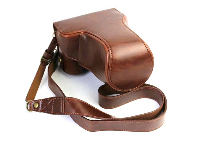 High qualtiy Luxury Leather Camera Video font b Bag b font Case Cover For Canon EOSM3