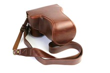 High qualtiy Luxury Leather Camera Video Bag Case Cover For Canon EOSM3 18-55mm Eos M3 Camera take out battery directly