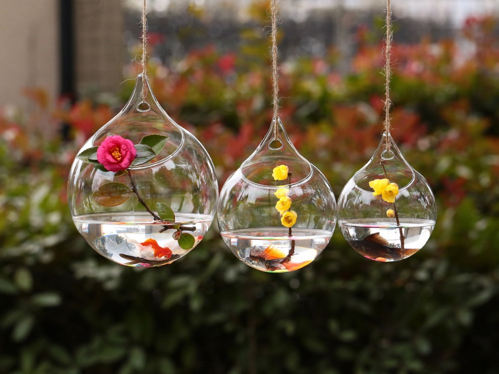 Aliexpress Buy Dia10cm Hanging Glass Bauble Tealight Holder