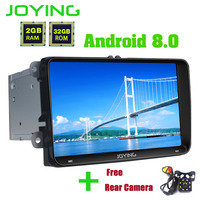 Joying 2 din GPS 9 Android 8.0 Car Stereo Radio With Free Rear View Camera For VW Passat/Golf/Skoda/Seat 2Gb+32gb Autoradio FM