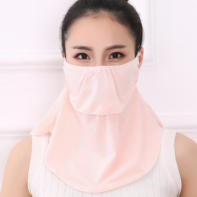 Summer Spring Breathable women neck protection face mask sun protective Shade anti-dust mask Mouth-muffle Mask Flu Face masks 3