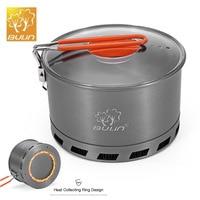 BULIN S2500 2.1L Camping Heat Exchanger Pot Foldable 2 3 Person Portable Picnic Pot Cookware Picnic Quick Heating Kettle