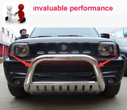 Estilo do carro amortecedor Dianteiro Grille Trims decoração decorativo Estilo Do Carro Soleira Para Suzuki Jimny