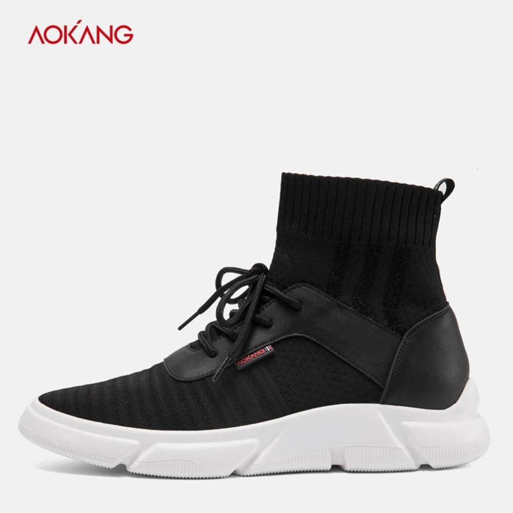 Casuais Confortável De 2018 Tenis Zapatos Black183450025 Botas Masculino Homens Aokang Adulto red183450026 Sapatos Luz Inverno Respirável Tornozelo Hombre qI1pqw