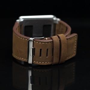 Image 2 - (Brązowy) kolekcja Chicago skórzany aluminiowy pasek na rękę zespół skrzynki pokrywa dla ipod nano 6 6th 6G + bezpłatna ochrona ekranu