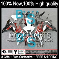 Bodys Injection Red White Black For KAWASAKI NINJA ZX10R ZX 10R JK2211 New Red White ZX