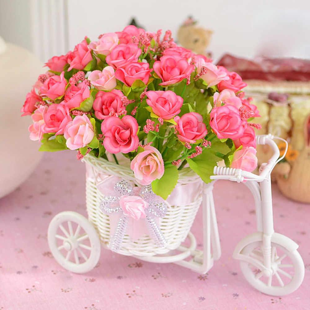 Горячая продажа Цветочная корзина ваза из ротанга дизайнерская для велосипеда