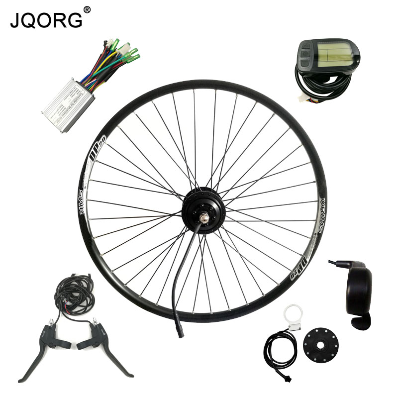 JQORG Brushless DC 36V 250W Gear Hub Motor For Electric Bike 26 inch Electric Bicycle Motor Wheel And E-bike Conversion Kits 24v 500w electric mountain bike powerful brushless gearless hub motor 26 rear wheel electric bike conversion kit with lcd meter