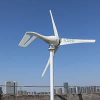 New 400w Wind Generator 12v 24v 48v Wind Turbine With 3 Blades Or 5 Blades For