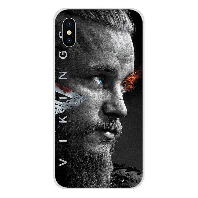 Accessori Del Telefono Custodie Coperture Ragnar Lothbrok Vikings Per Apple iPhone X XR XS MAX 4 4 S 5 5 S 5C SE 6 6 S 7 8 Più ipod touch 5 6
