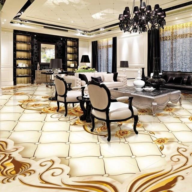 Freies Verschiffen goldene luxus rose 3D boden büro schlafzimmer ...
