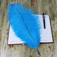 Lake blue Wedding Decoration Wholesale 50pcs Ostrich Feathers 16-18inches/40-45cm Long plume