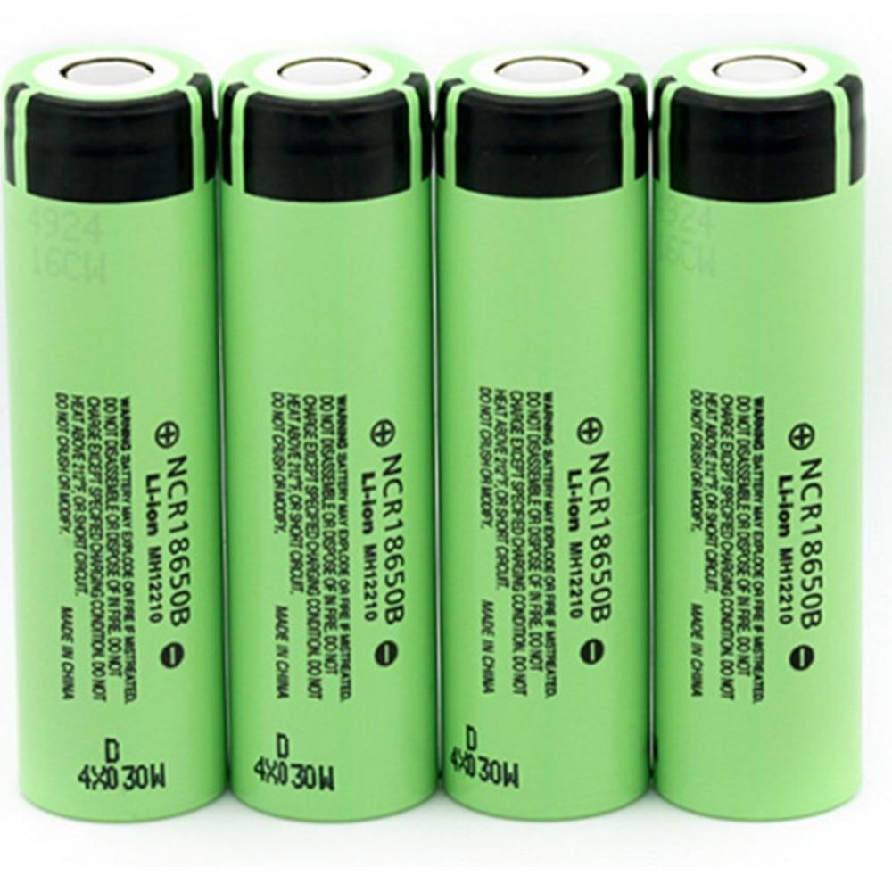 AKASO 4 teile/los Neue Original 18650 NCR18650B Lithium-ionen-akku 3,7 v 3400 mah Für Panasonic Taschenlampe batterien verwenden
