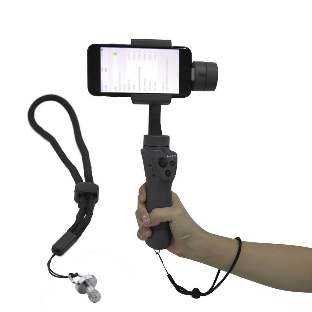 حبال الحبل شريط للرسغ حامي آمن مع 1/4 بوصة المسمار ل DJI OSMO موبايل 2 ZHIYUN السلس 4 Feiyu يده كاميرا ذات محورين