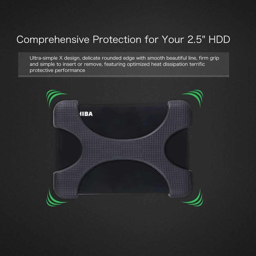 "Draagbare HDD SSD Accessoires 2.5 inch HDD Silicone Case Hard Drive Disk Cover Protector Skin Ultra Soft Case Voor 2.5 ""WD HDD"