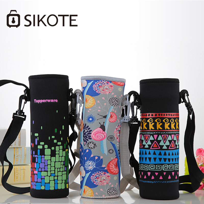 SIKOTE Black Insulated Bag for Bottle Waterproof Lunch Bags 500ml Cooler Bag for Women School Lunch Box Thermal for Kids цена