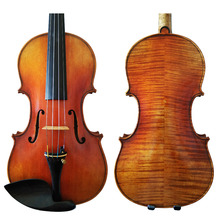 Free Shipping Copy Amati Model 100% Handmade FPVN03 Oil Varnish Violin +  Carbon Fiber Bow  Foam Case