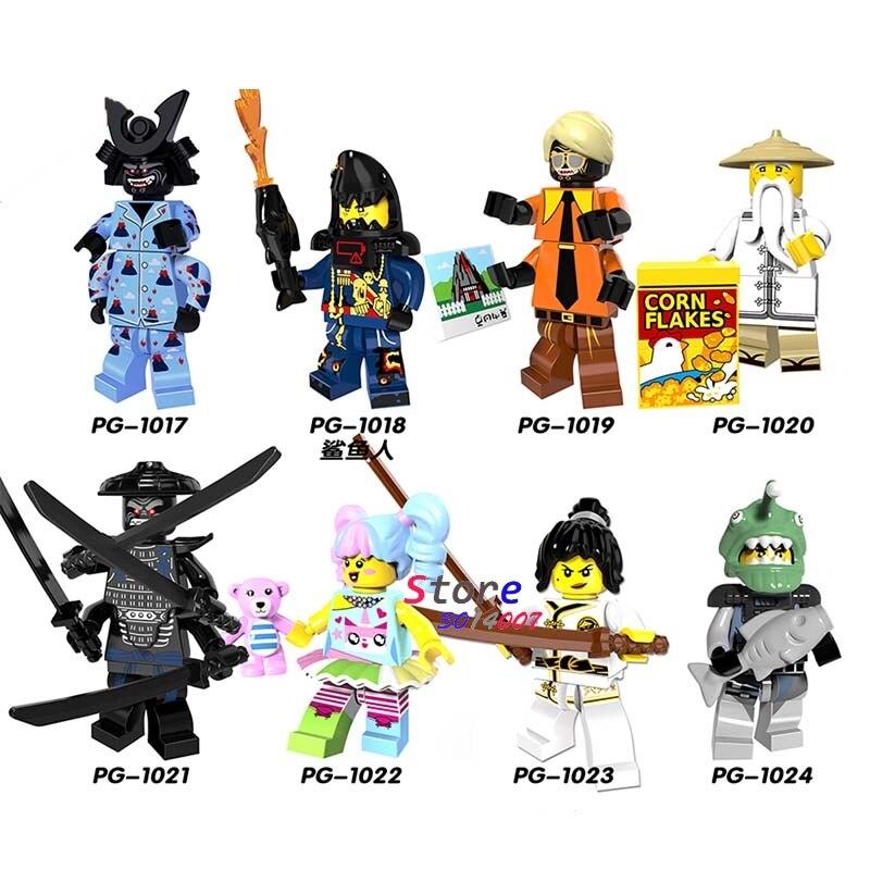 8pcs Star wars super hero Ninja Nya/Sensei Wu/Flashback Garmadon/N-POP Girl/Shark Army model building blocks toys for children