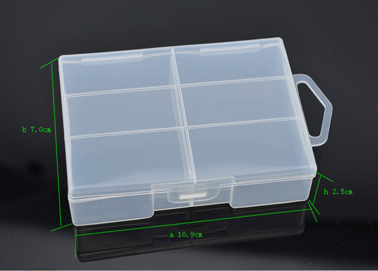 10pcs/lot Durable AAA Battery Storage Boxes Hard Case Holder For 24 x batteries battery Organizer Protective
