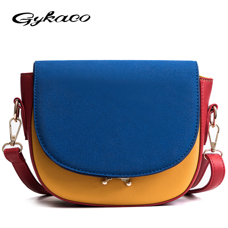Gykaeo Brand 2018 New Winter Scrub Hit Color Small Shoulder Bags Handbags Women Famous Brands Ladies Messenger Bag Sac A Main luxury handbags women bags designer brand famous scrub ladies shoulder bag velvet bag female 2017 sac a main tote