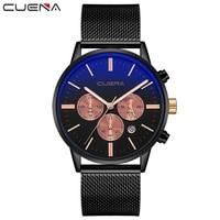 Watch Men Luxury Top Brand Steel 2018 Mens Watch Date Gold Silver Business Relogio Masculino De
