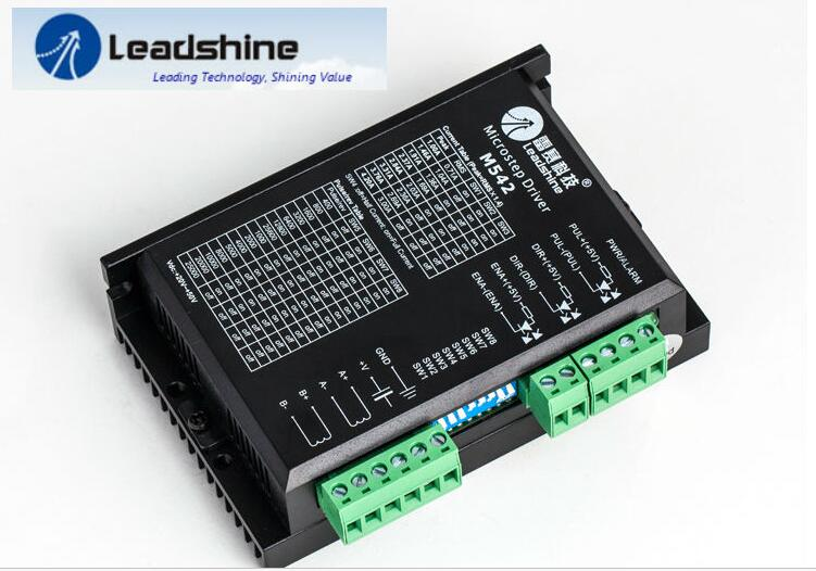 Free Shipping Leadshine 2 Phase Analog Stepper Driver M542 Max 50 VDC 4.2A for Stepper Motor NEMA 23 nema 17 motors leadshine 2 phase analog stepper driver m542 max 50 vdc 4 2a for stepper motor nema 23