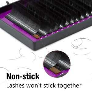 Image 5 - NAGARAKU 5 cases Ellipse Flat False Eyelash Extension flat mink mix cilia eyelashes Faux Mink Ellipse eyelashes