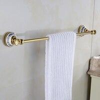 Free Shipping Single Towel Bar Towel Holder Towel Rack Solid Brass Ceramics Made Bathroom Accessories XE3383