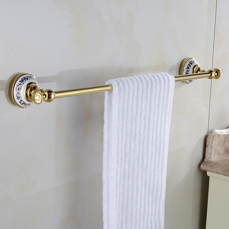 Towel Bars Gold-plating Blue and white Porcelain Towel Rack Solid Brass & Ceramics Made Bathroom Accessories XE3383 krishen kumar bamzai and vishal singh perovskite ceramics preparation characterization and properties