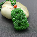 100% of hetian jade pendant jade dragon necklace pendant/Send jade necklace