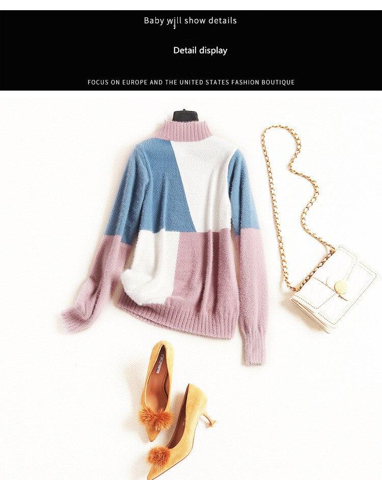 Nouvelle Imitation Manches Hauts Européen Américain Pour Et Vêtements Dames Mode Velours Longue De Vison xvITvYq