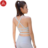 Women Sexy Underwear Brassiere Sport For Woman Fitness Padded Sports Bra Breathable Quick Dry Nylon Spandex