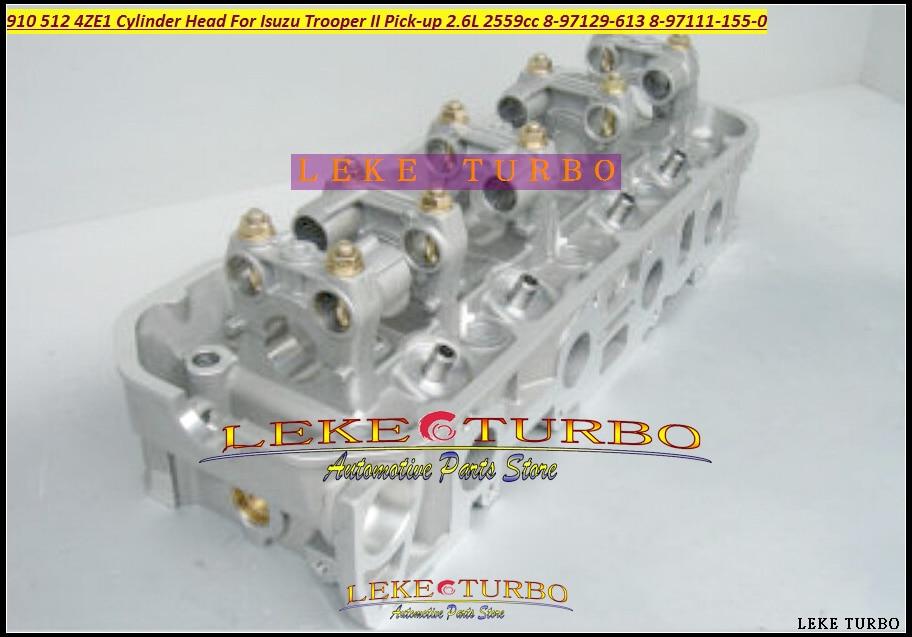 910 512 4ZE1 Cylinder Head 8-97129-613 8-97111-155-0 For Isuzu Trooper II Pick-up Bighorn MU 2.6L 2559cc 897129613 8971111550