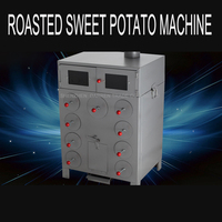 Perfect 9 Hole thicken and double layers corn grilled machine charcoal or wood roasted sweet potatoes Oven machine