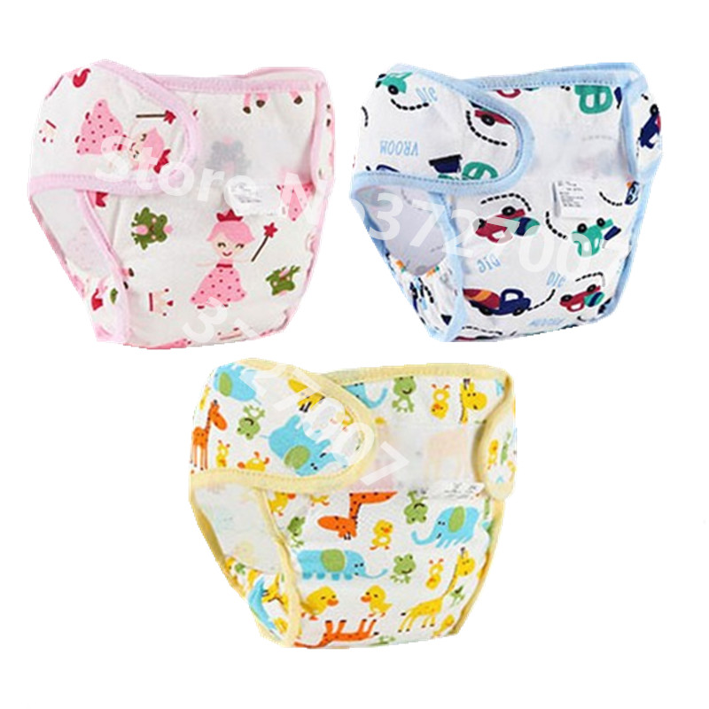 1PC Cotton Baby Diaper Reusable Cartoon Soft Cloth Diaper Nappies Pocket Waterproof Wholesale Washable Diapers Baby Nappy
