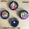20PCS 60mm Abarth Logo Car Emblem Wheel Center Hub Cap Rim Badge Covers Car Styling 2
