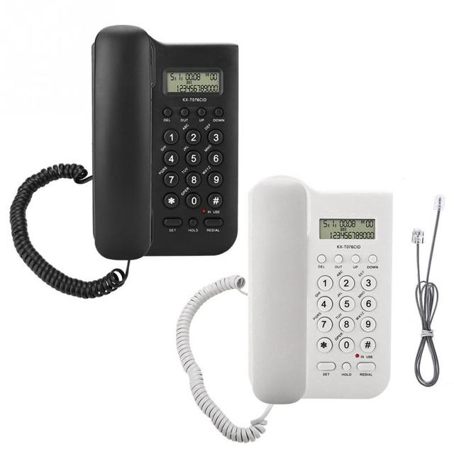 Home Hotel Parede do Desktop Com Fio Escritório Telefone fixo Telefone Fixo 2018 novo estilo-Telefones de linha